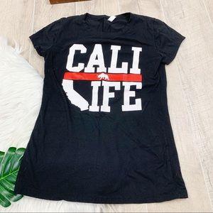 Cali Life Black Short Sleeve Tshirt 3150